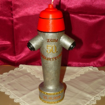Geburtstagskerze Hydrant