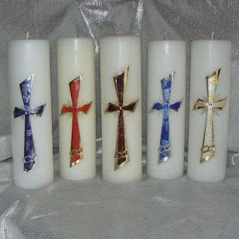 Hochzeitskerze Kreuz