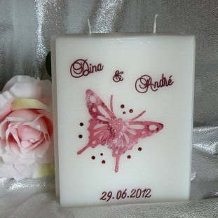Hochzeitskerze Schmetterling