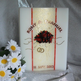 Hochzeitskerze Rose