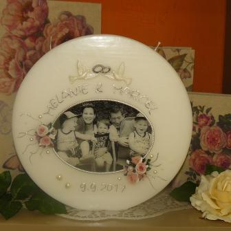 Hochzeitskerze Fotodruck