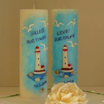 Taufkerze Leuchtturm