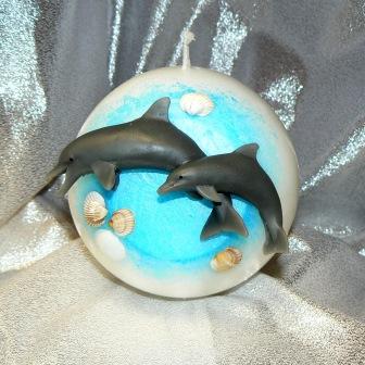 Delfinpaar springend