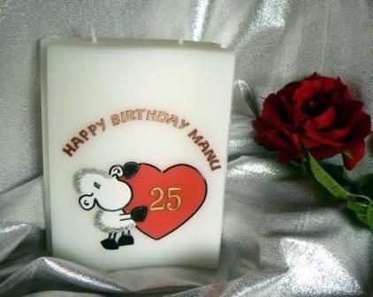 Geburtstag Schaf mit Herz
