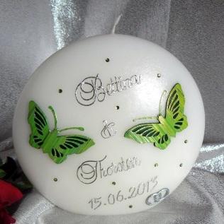 Hochzeitskerze Schmetterlinge