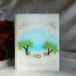 Hochzeitskerze Unter Palmen