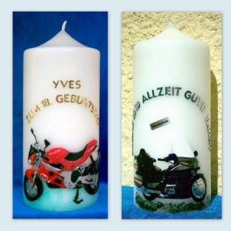 Wachsbild Motorrad