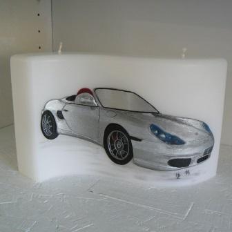 Wachsbild Porsche
