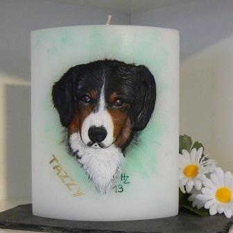 Wachsbild Hund Tazzy
